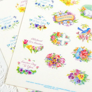 Vintage Easter Stickers. Easter Cards. Planner Stickers. Vintage Stationery. Easter Ephemera. Scrapbook Ephemera. Easter Tags. Easter Decor.