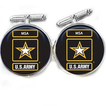 Army Military Cufflinks, Personalized cufflinks