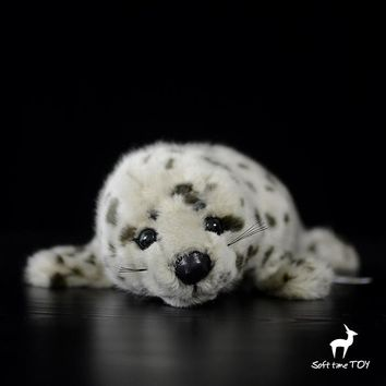 Spotted Seal Stuffed Animal Plush Toy 12""