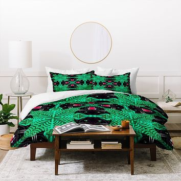 Chobopop Tropical Gothic Pattern Duvet Cover