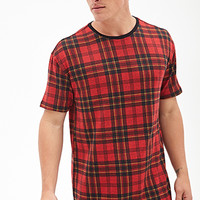 Plaid Print Tee Red/Black