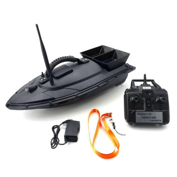 REMOTE CONTROL FISHING BOAT RC DOUBLE BODY THROW FEED