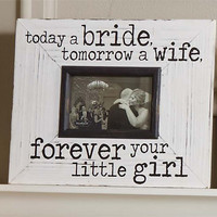 MUD PIE: Today a Bride Frame