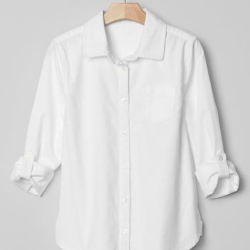 Gap Girls Convertible Stretch Oxford Shirt