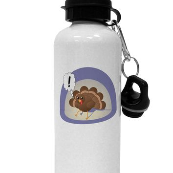Escaping Turkey - Funny Thanksgiving Aluminum 600ml Water Bottle