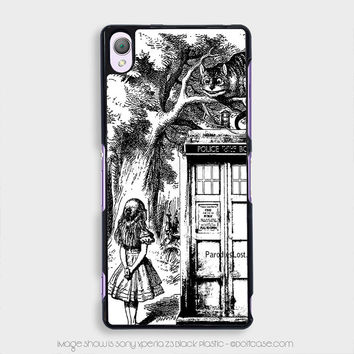 alice in tardis dr Who Sony Xperia z3 Case, Sony Xperia Cases
