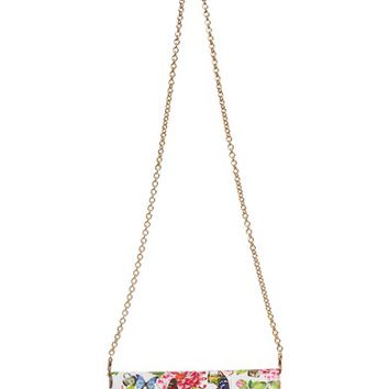 Dolce&Gabbana Floral Print Leather Wallet on a Chain | Nordstrom