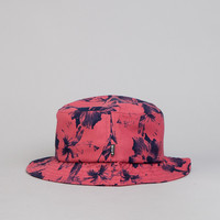Huf Floral Bucket Hat Salmon