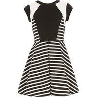 River Island Girls stripe blocked print skater dress