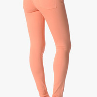 The Slim Illusion Skinny In Apricot | 7 For All Mankind