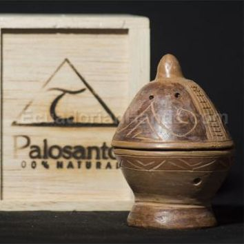 bowl cone burner, balsafly box & 10 palosanto incense cone