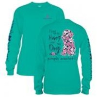 *Closeout* Simply Southern Long Sleeve Tees-Preppy Dog