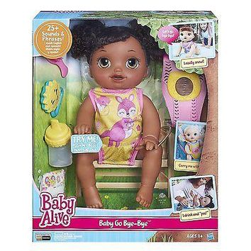 Baby Alive Baby Go Bye Bye Doll African American Bi-Lingual w/ Spanish NEW