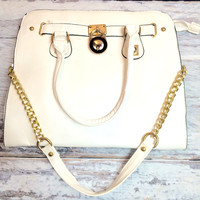 READY TO GO HANDBAG IN WHITE