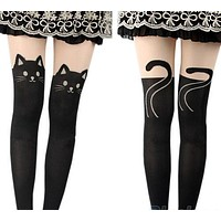 Cute Goth Alt Harajuku Cat Tights