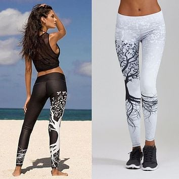 Women Printed Sports Yoga Workout Gym Fitness Exercise Athletic Pants