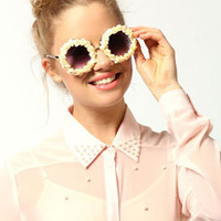 Daisy Floral Round Sunglasses