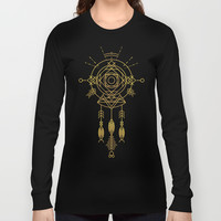 Cosmic Gold Dreamcatcher Long Sleeve T-shirt by Budi Satria Kwan