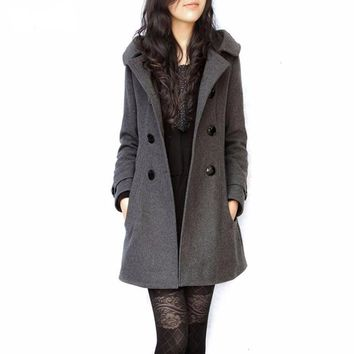 Women's Blended Woolen Warm Overcoat - Tackle Winter In Style