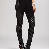 BCBGMAXAZRIA Leggings - Lacie Linear Motif Sequin