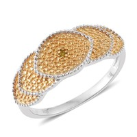 Yellow Diamond (IR) 14K Over Sterling Silver Ring