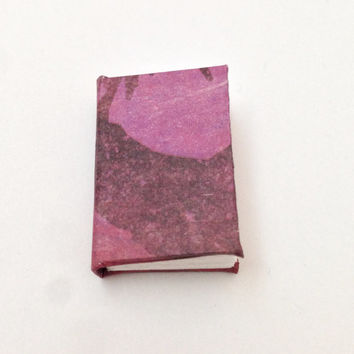 Mini Book, Purple Book, Grunge Paper, Handbound Journal, Blank Book, Minature Books, Recycled Paper, Scrap Book