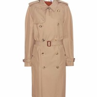 Sequinned cotton-blend trench coat