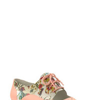 Floral Print Cutout Oxford (Women)