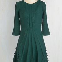Warm Cider Sweater Dress in Forest | Mod Retro Vintage Dresses | ModCloth.com
