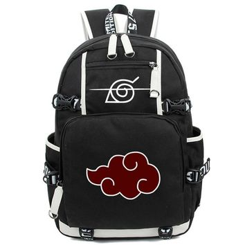 Naruto Sasauke ninja New fashion Cartoon Printing Cosplay  men Backpack Anime Akatsuki Sharingan School Backpacks Laptop women Shoulder Bags AT_81_8