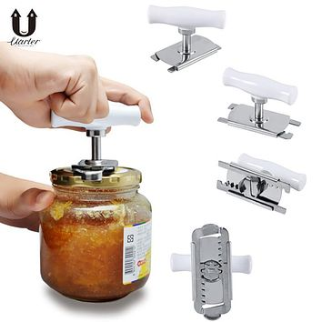 UARTER Free Size Adjustable Stainless Steel Can Opener Manual High quality Opener Bottle Opener Easy Can Opener Bottle Tin Cap