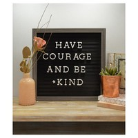 New View 12''x12'' Black Letter Board with Gray Trim