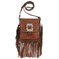 Eagle Feather Crossbody Fringe Bag