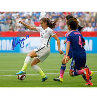 Alex Morgan Signed 2015 World Cup Controlling Ball 16x20 Photo (Lojo Sports Auth)