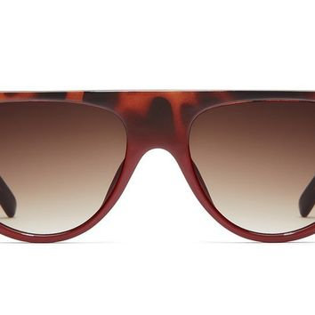 Quay Run Away Tortoise Red Fade Sunglasses / Brown Lenses