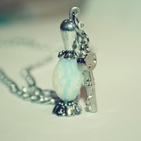 Moonstone Potion Necklace,Moonstone Necklace,Potion Necklace