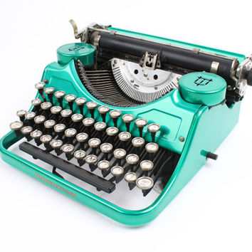 Hot-Rodded Typewriter -- Underwood Model F in Candy Mint Green