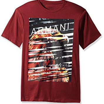 A|X Armani Exchange Eagle Graphic Crew Neck Tee