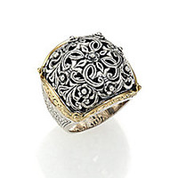Konstantino - Classics 18K Yellow Gold & Sterling Silver Floral Filigree Ring - Saks Fifth Avenue Mobile
