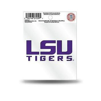 LSU Tigers Logo Static Cling Auto Decal Car Sticker Small SS