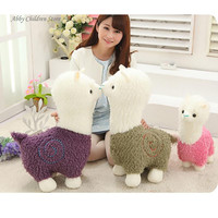 40CM Alpaca Plush Doll Toy Fabric Sheep Stuffed Animal Plush Llama Yamma Birthday New Year Christmas Gift For Baby Kid Children