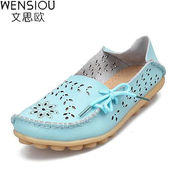 Women Flats Leather Shoes Moccasins Mother Loafers Soft Leisure Female Flats Driving Women shoes Casual Footwear DTT679