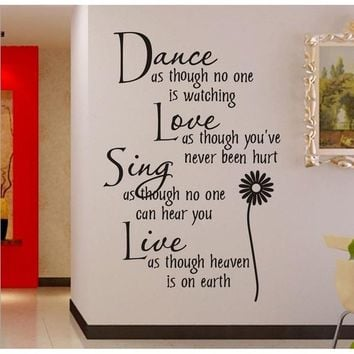 wall sticker Dance as.. 0776 stickers manufacturers cartoon style living room bedroom, children's room wall decoration stickers