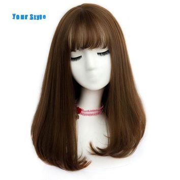 ESBONT 45 Colors Synthetic Long Straight Natural Hair Wigs