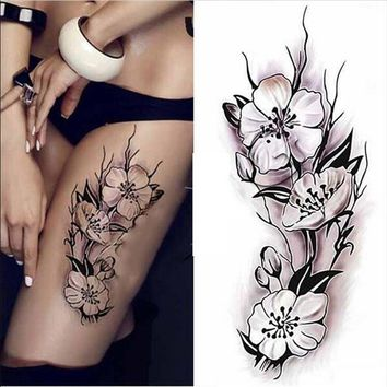 Women Sexy Waterproof Temporary Tattoos Large Arm Fake Transfer Tattoo Stickers