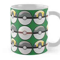 Gray and Yellow Pokeballs by pidesignprints