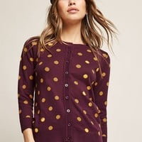 Polka Dot Knit Cardigan