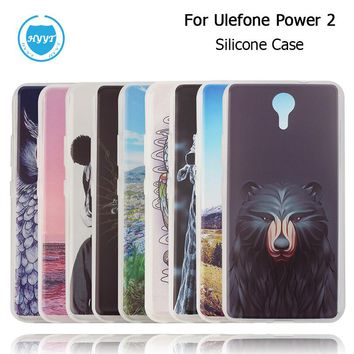 Hot 2017 For Ulefone Power 2 Silicone Case With Colorful Drawings Original Soft TPU Protective Cover Case for Ulefone Power 2