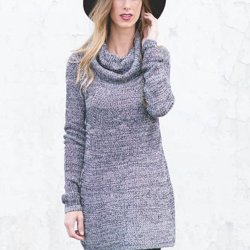 Glorious Grey Days Tunic Sweater