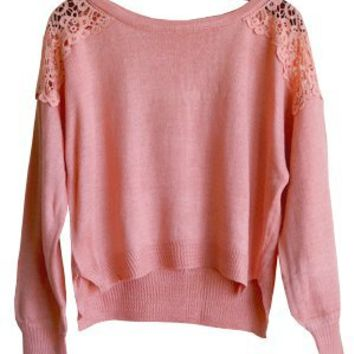 Macra May I Sweater, Coral Pink